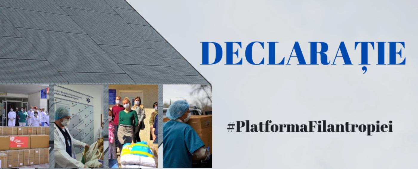 DECLARAȚIA Platformei pentru Promovarea și Dezvoltarea Filantropiei în Republica Moldova cu privire la colectarea și distribuirea fondurilor pe timpul pandemiei Covid-19.